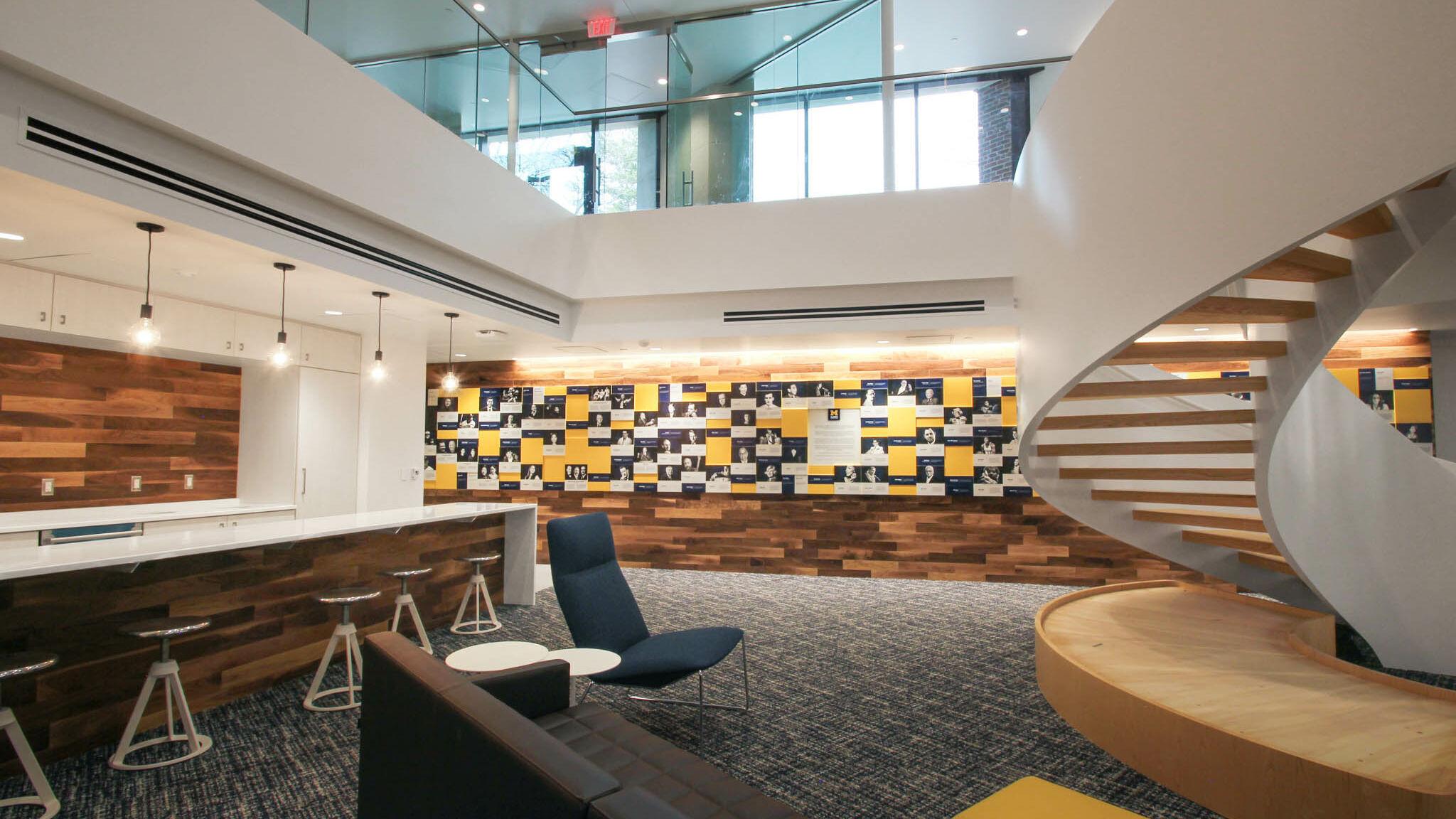 University of Michigan Alumni Center recognition display honors notable alumni