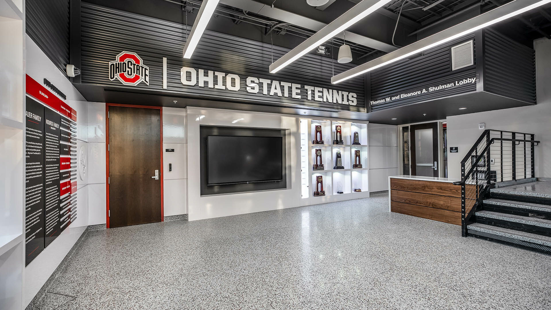 Ohio State Ty Tucker Tennis Center Lobby