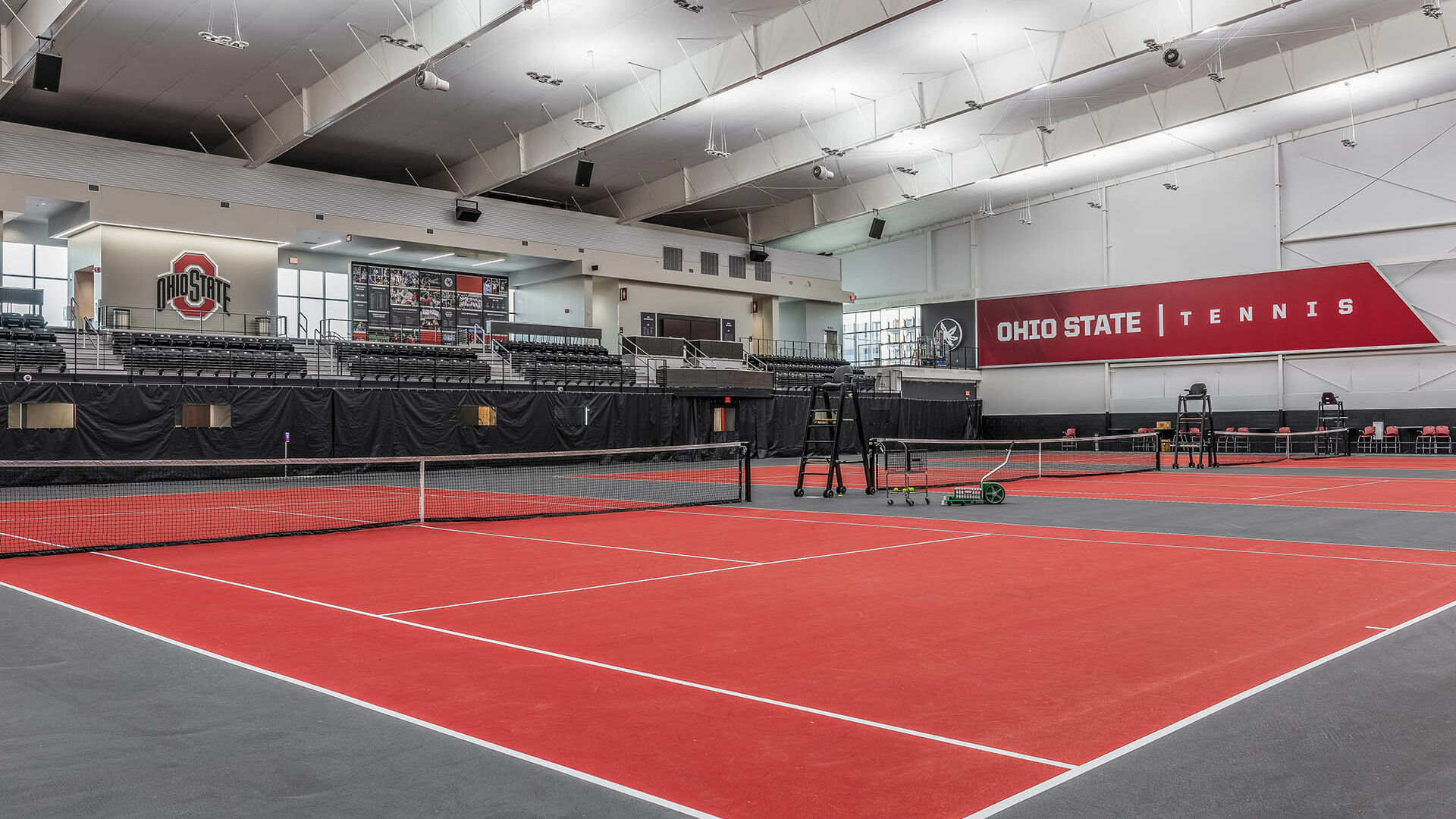 Ohio State Ty Tucker Tennis Center Courts and Graphics