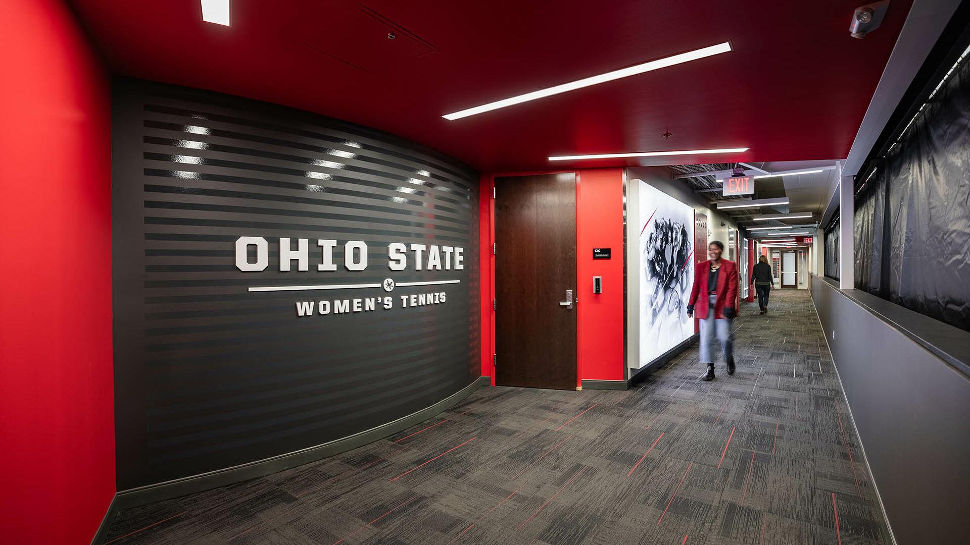 Ohio State Ty Tucker Tennis Center Women's Athlete Hallway